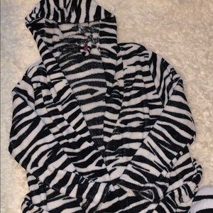 Zebra Robe & Throw Blanket